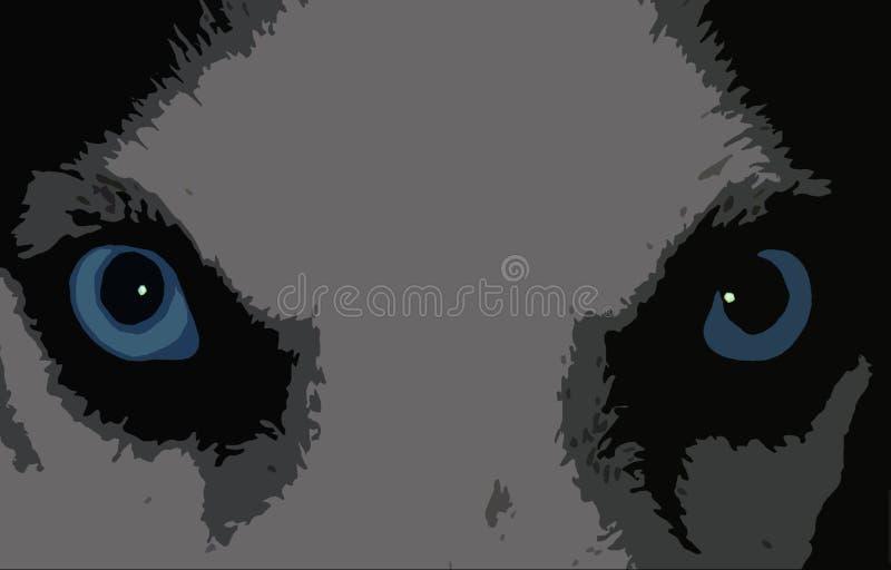 сиплая собака иллюстрация штока