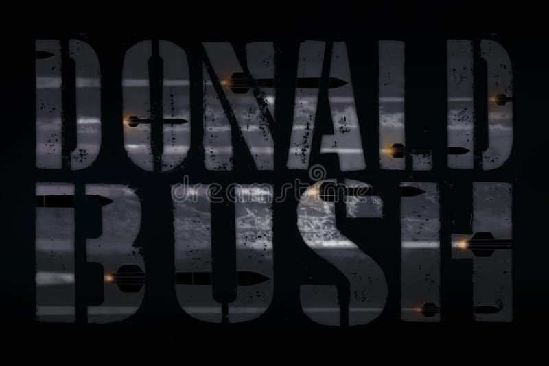 СИРИЯ, 14-ое апреля 2018 - нападение Джордж w Буша повторений президента Козыря в ударе и благоговении Ближний Востока иллюстрация вектора