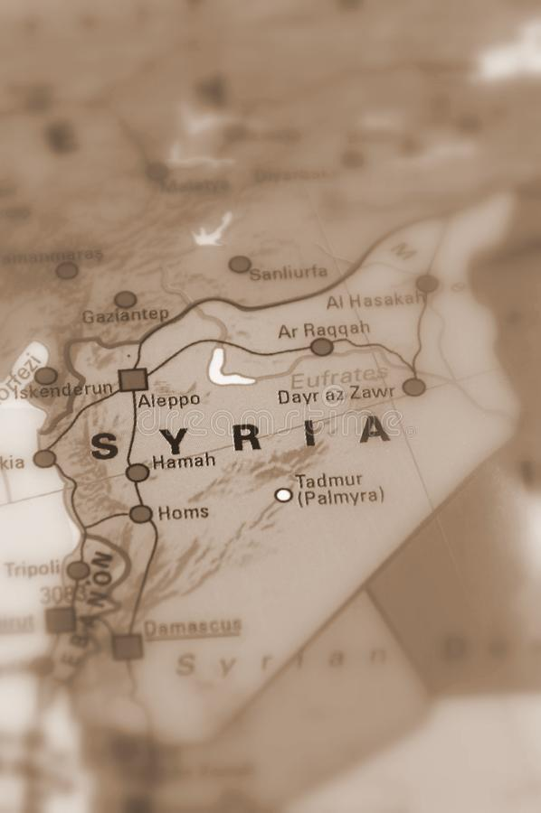 Сирия, сирийская арабская республика стоковое изображение rf