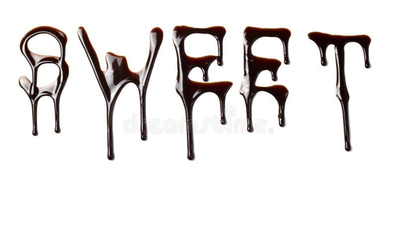 сироп пем еды шоколада протекая жидкостный сладостный стоковое фото