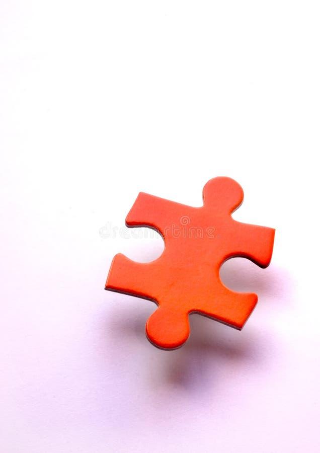 сиротливая головоломка одиночная стоковое изображение rf