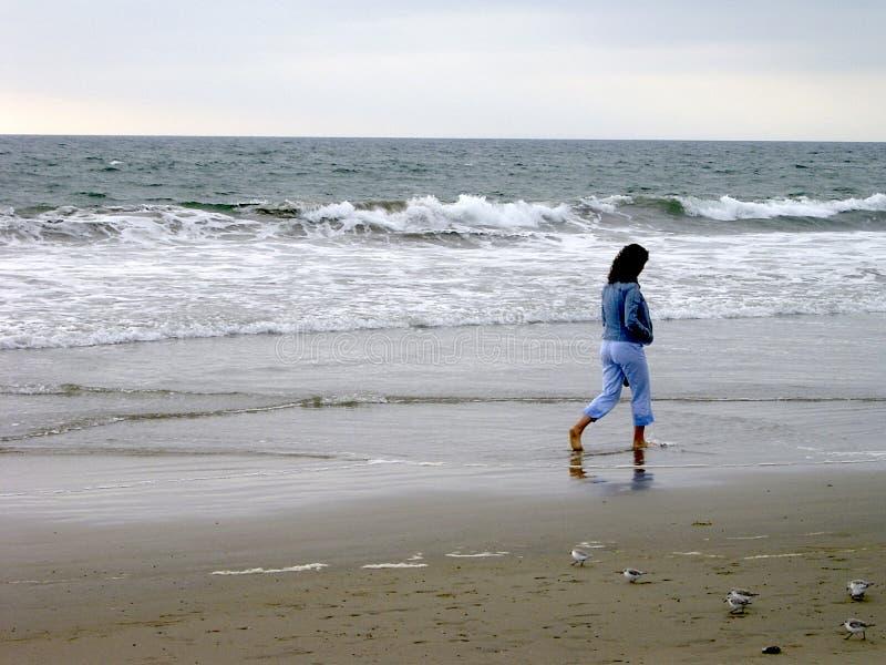 сиротливая женщина Стоковое Изображение RF