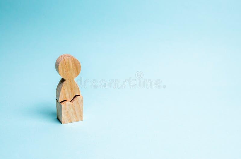 Сиротливый человек с отказом Концепция физического и психологического насилия против человека психологическо стоковая фотография rf