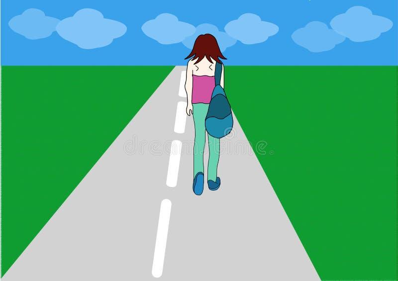 сиротливая женщина бесплатная иллюстрация