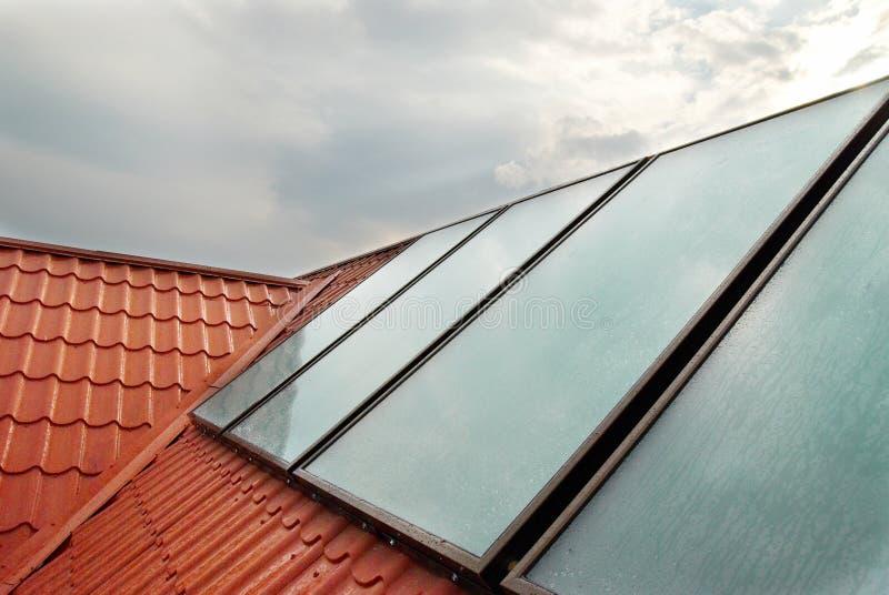 система альтернативной энергии солнечная стоковая фотография