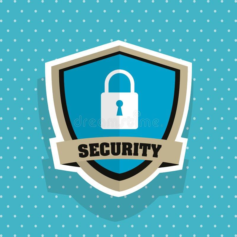 Система безопасности концепция экрана предупреждающая иллюстрация иллюстрация вектора