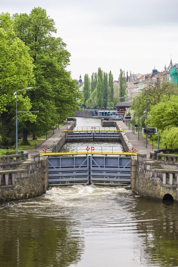 Система ворот в городе стоковая фотография rf