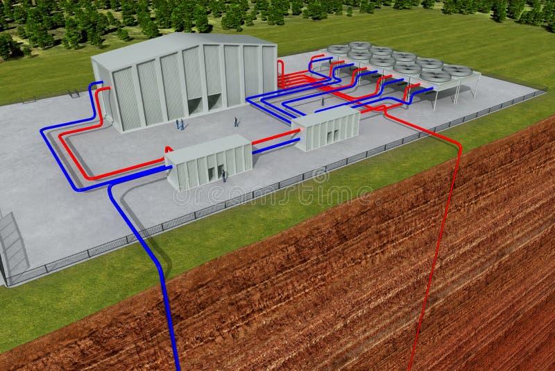 система земли вырезывания геотермическая иллюстрация вектора