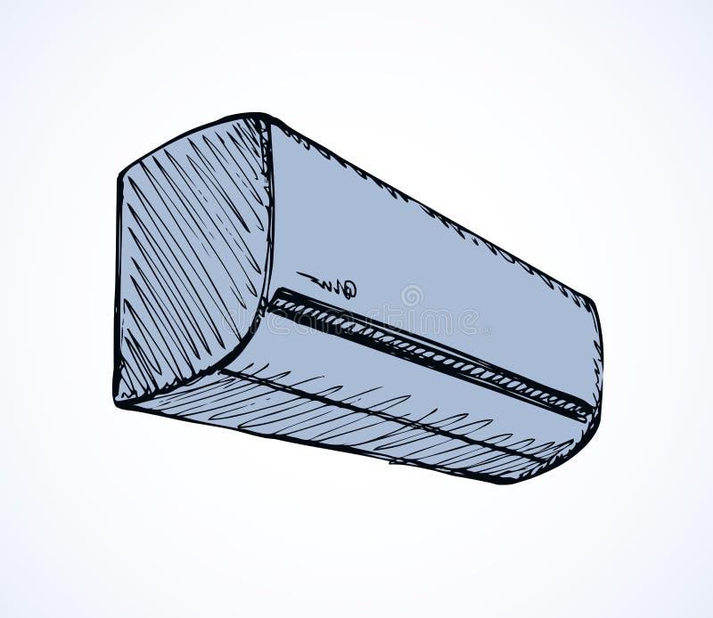 система кондиционера разделенная иллюстрацией Эскиз вектора иллюстрация вектора