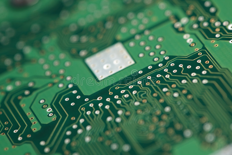 система обломока доски микро- стоковая фотография