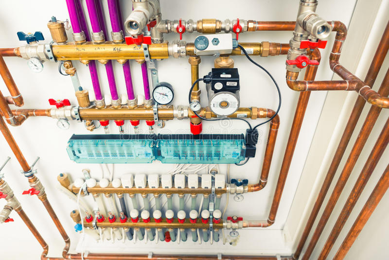 Система отопления под полом стоковая фотография