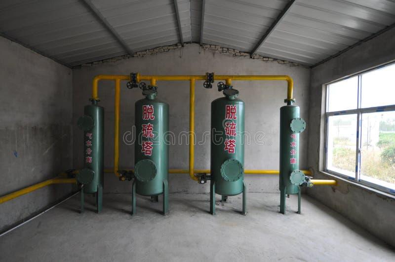 Система очищения лэндфилл-газа стоковые изображения rf