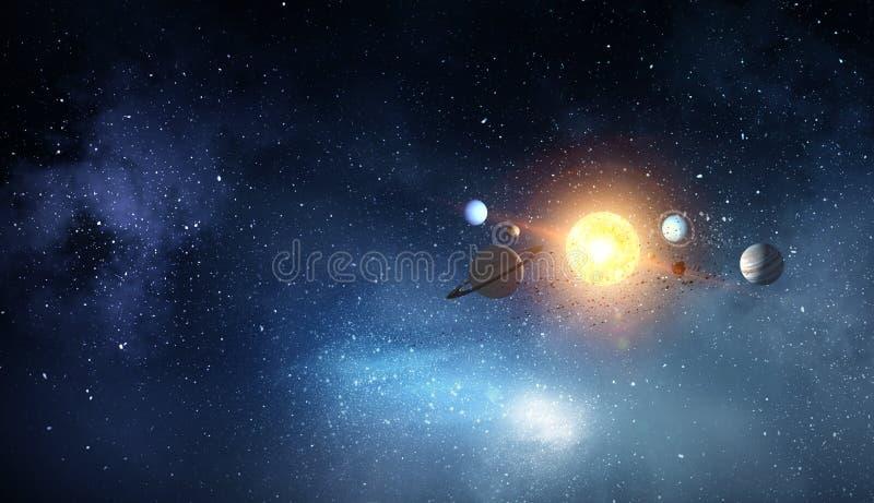Система планет Мультимедиа стоковое фото