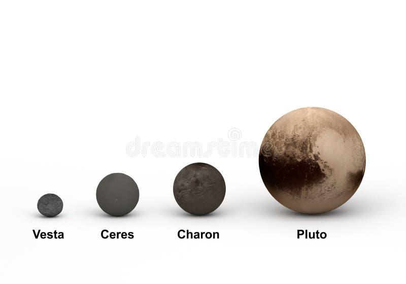 Система Плутона и наружное сравнение планеты карлика бесплатная иллюстрация