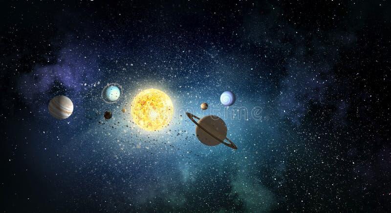 Система планет Мультимедиа стоковое фото rf