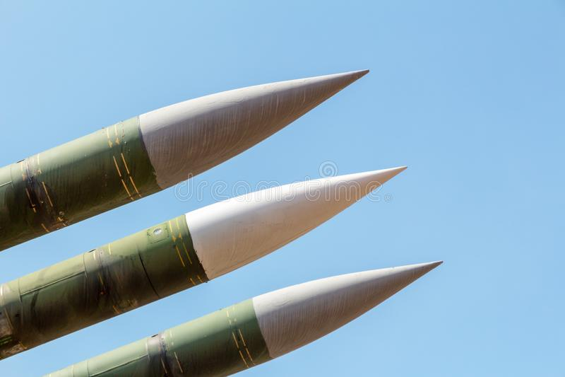 Система Ракеты Предпосылка войны стоковое фото