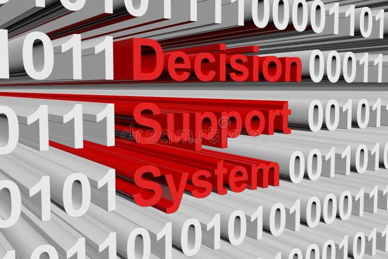 Система решающей поддержки иллюстрация вектора