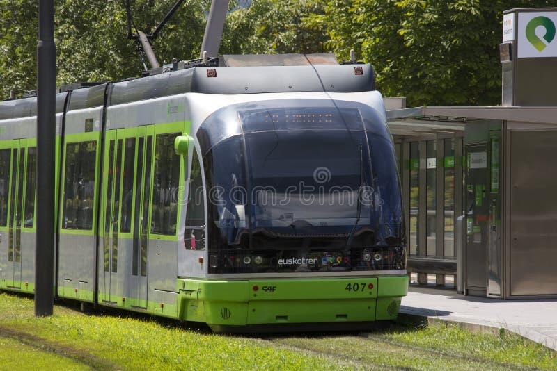 Система трама - Бильбао - Испания стоковое изображение rf