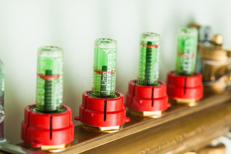 Система управления отопления под полом стоковое изображение rf