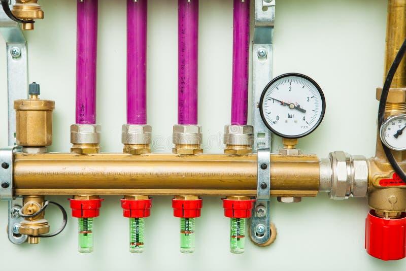 Система управления отопления под полом стоковое фото rf