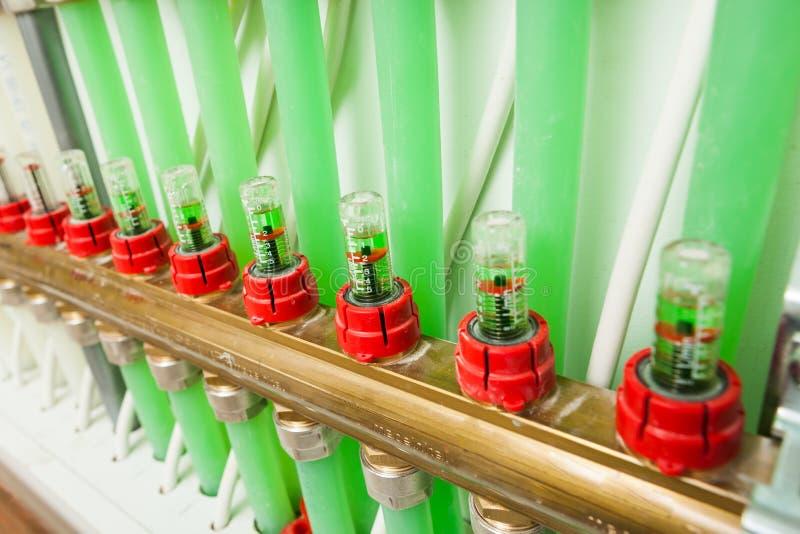 Система управления отопления под полом стоковые фото