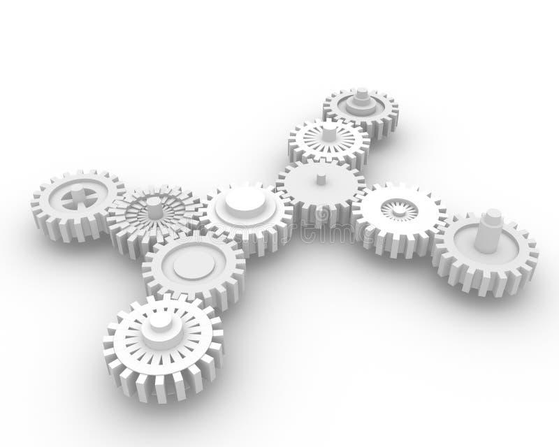 система шестерни иллюстрация вектора