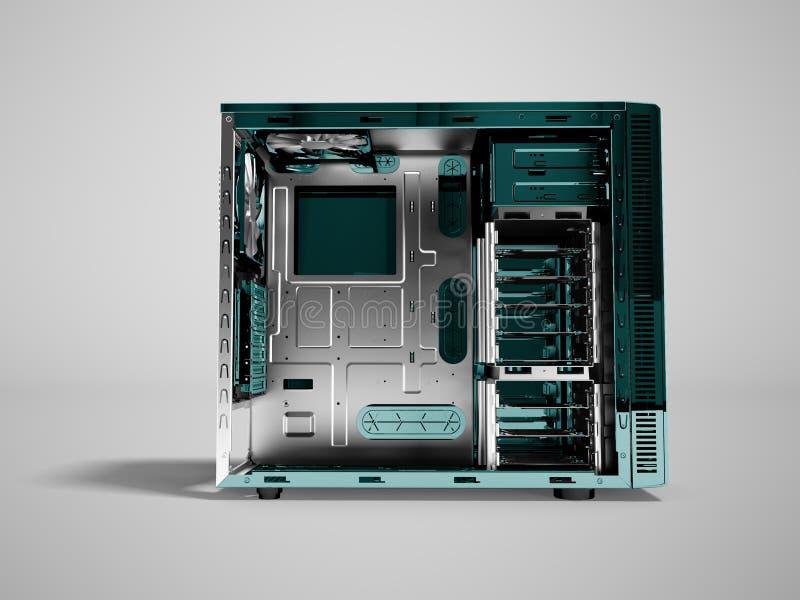 Системный блок для перевода фронта 3d медного штейна пробела компьютера дальше бесплатная иллюстрация