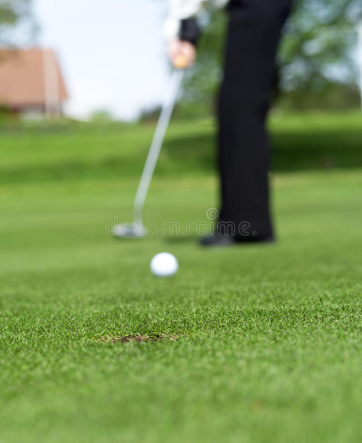 Ситуация гольфа стоковая фотография rf
