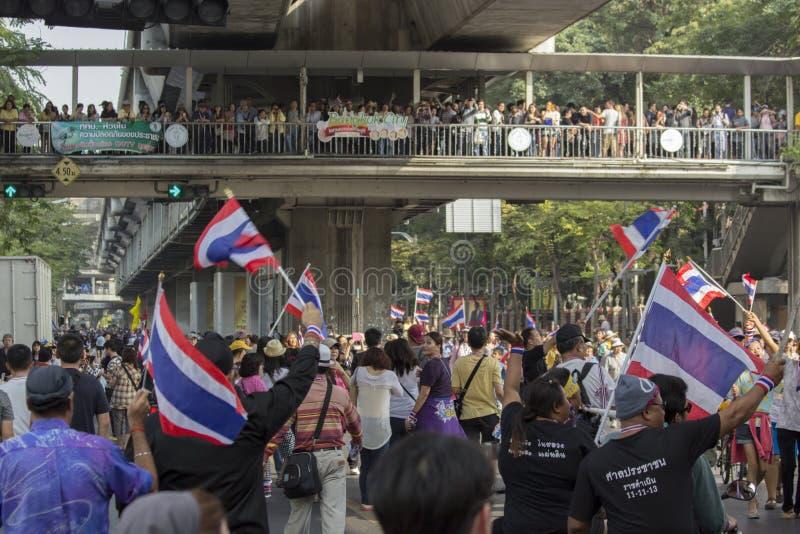 Ситуация протеста Бангкока в Таиланде стоковые фотографии rf