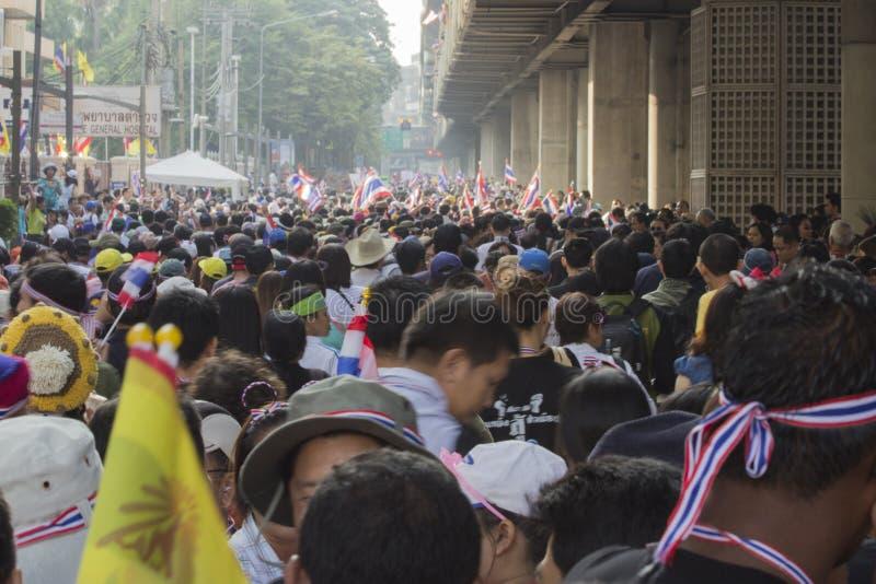 Ситуация протеста Бангкока в Таиланде стоковое изображение rf