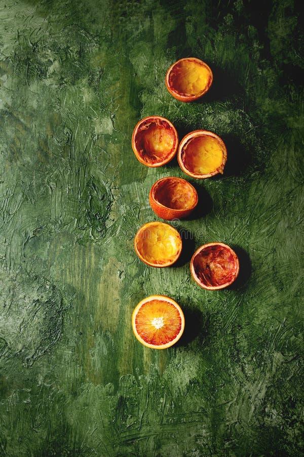 Сицилийские кровопролитные апельсины стоковые фотографии rf