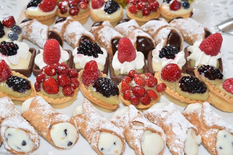 Сицилийские десерты стоковые фотографии rf