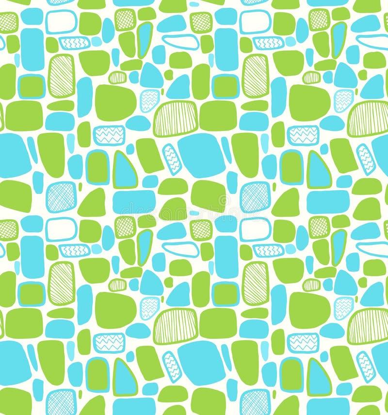 Сияющая абстрактная геометрическая картина. Декоративные плитки иллюстрация штока