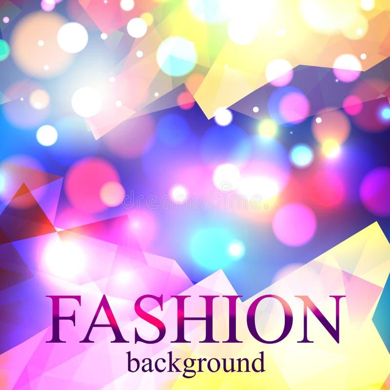 Сияющая предпосылка bokeh нерезкости моды для красоты иллюстрация штока