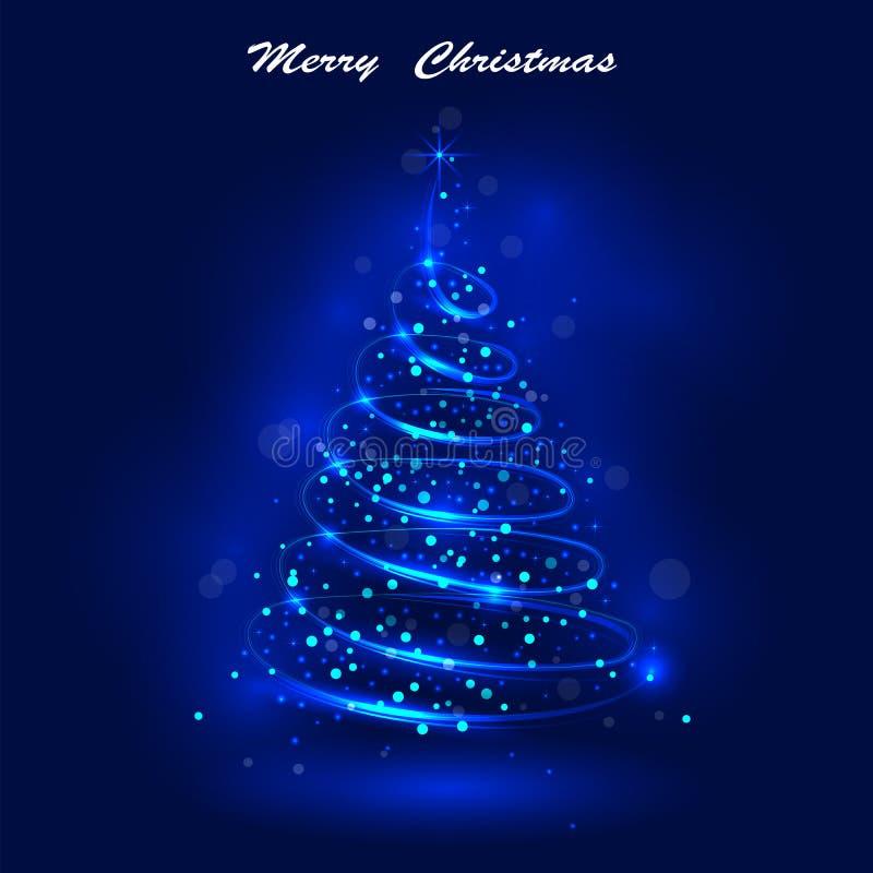Сияющая рождественская елка, волшебная рождественская елка, shinny christm иллюстрация штока