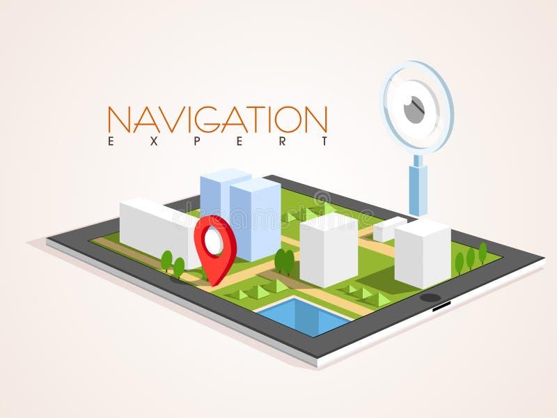 Сияющая таблетка с штырем навигации бесплатная иллюстрация
