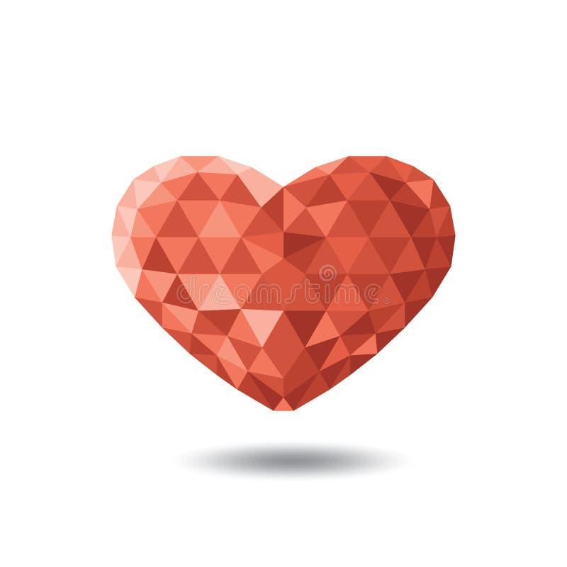 Сияющее кристаллическое сердце иллюстрация вектора