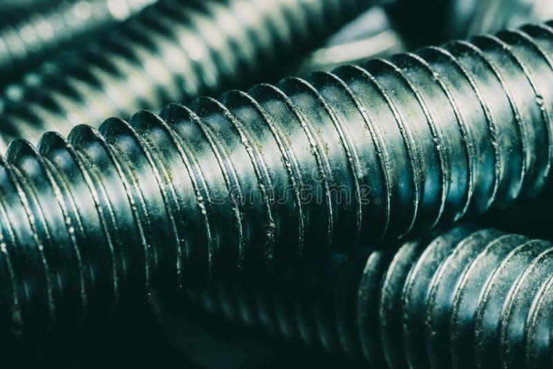 Сияющие гайка и болт металла стоковое изображение rf