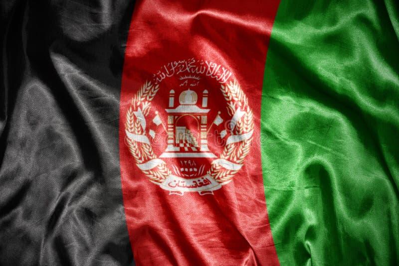 сияющий афганский флаг стоковые фотографии rf