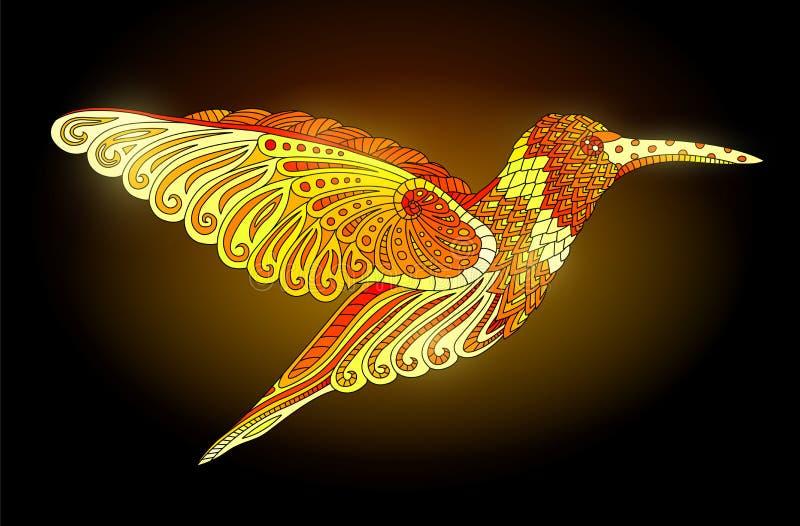 Сияющий золотой колибри бесплатная иллюстрация