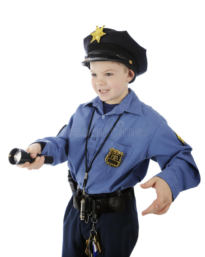 Сияющий молодой полицейский стоковые изображения rf
