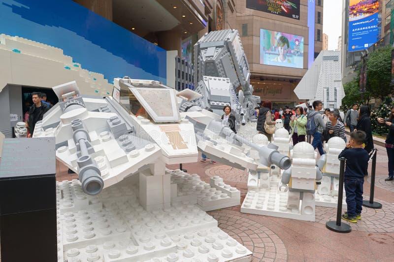 Сила будит выставку в Таймс площадь стоковые фотографии rf