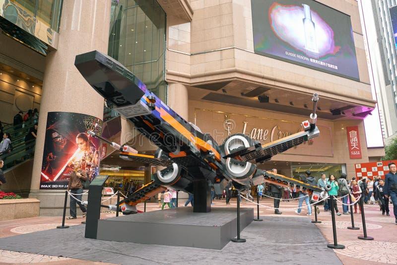 Сила будит выставку в Таймс площадь стоковое изображение