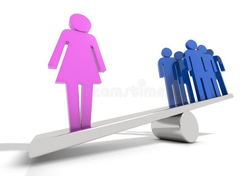 Сила женщины иллюстрация штока