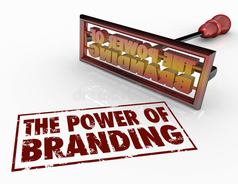 Сила клеймя утюга формулирует доверие идентичности маркетинга иллюстрация вектора