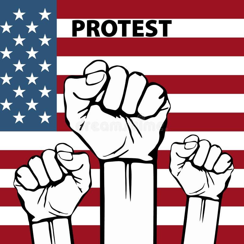 Сила свободы, концепции с предпосылкой флага США иллюстрация штока