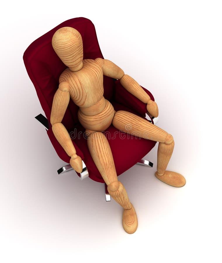 Сидеть ослабляет иллюстрация штока