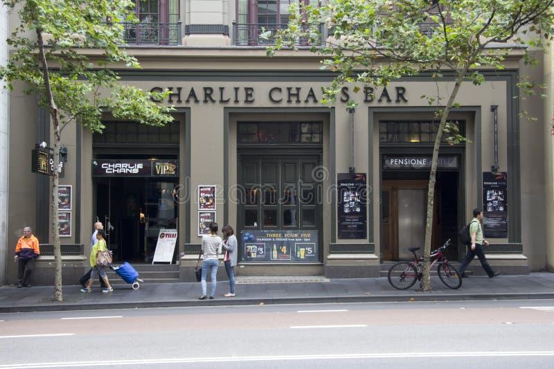Сидней, Австралия 15-ое марта 2013:: Бар Чарли Chan на Джордж стоковая фотография rf