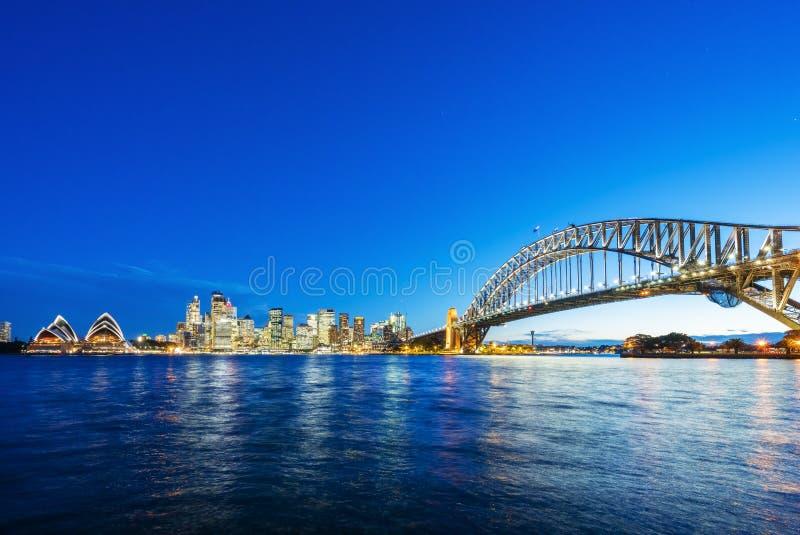 Сидней CBD и мост гавани стоковое изображение rf