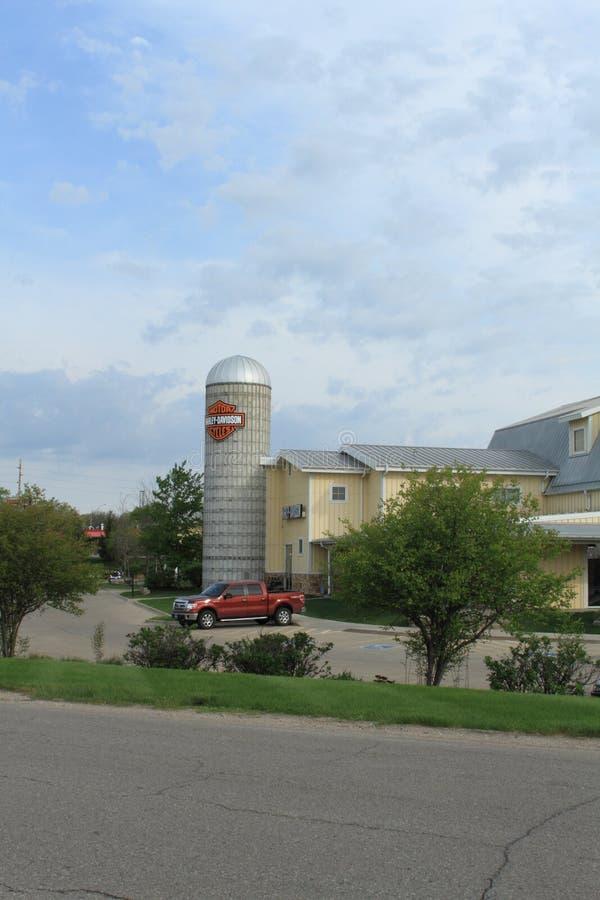 Силосохранилище Harley Davidson, Des Moines, Айова стоковое изображение rf